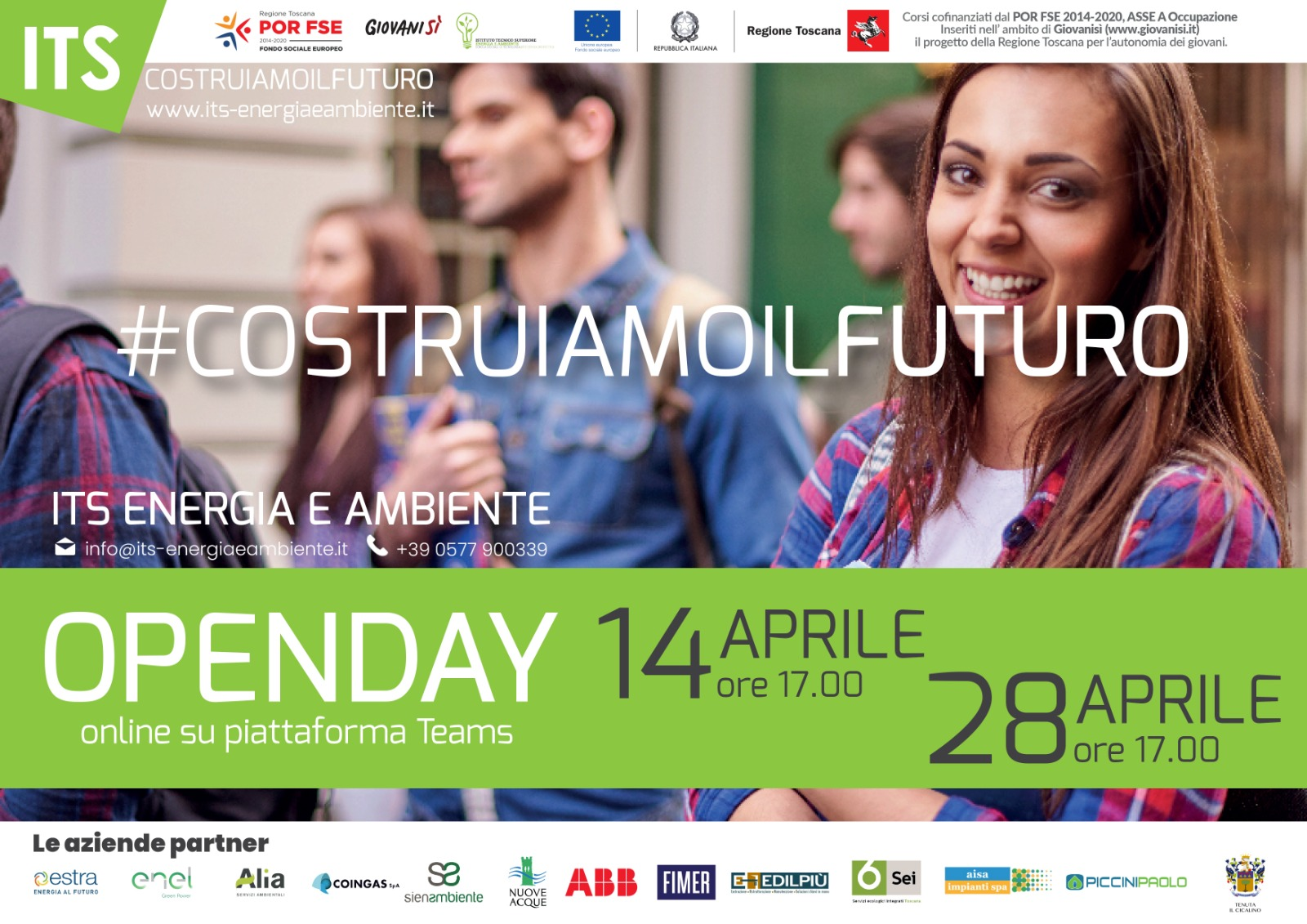 Open day ITS 14-28 Aprile 21